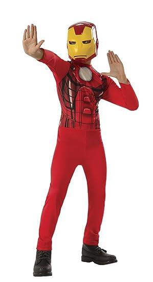 Avengers - Disfraz de Iron Man para niño, infantil 8-10 años (Rubies 640921-L)