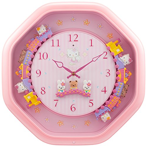 Hello Kitty Wall clock Kkitty moves around on the train