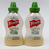 French's Mustard 100% Natural Super Classic Yellow - Pack of 2