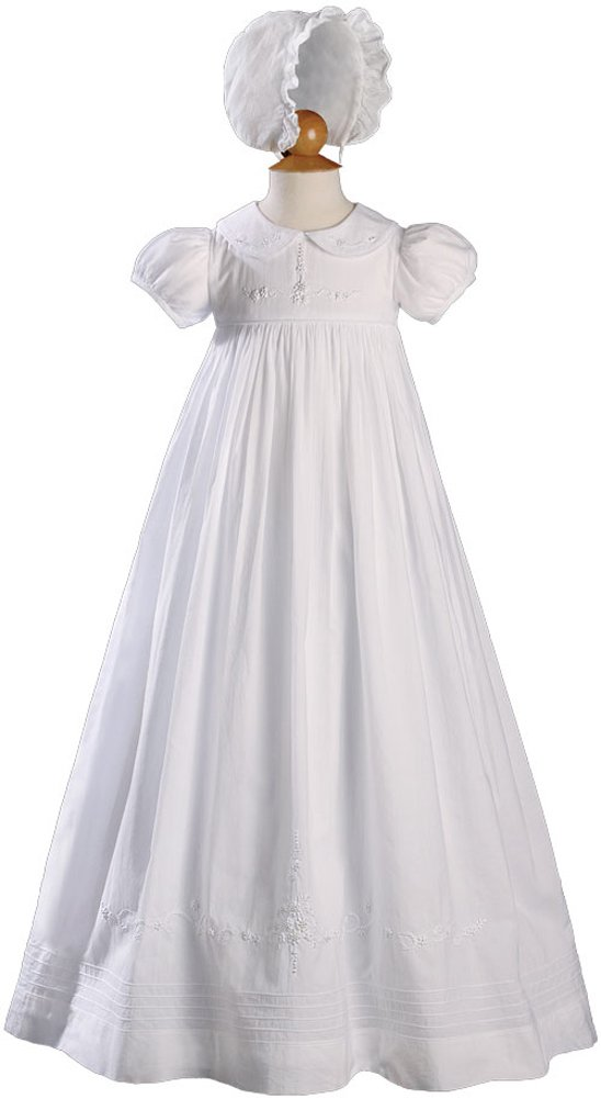 Helena Cotton Christening Gown Size - 6 months