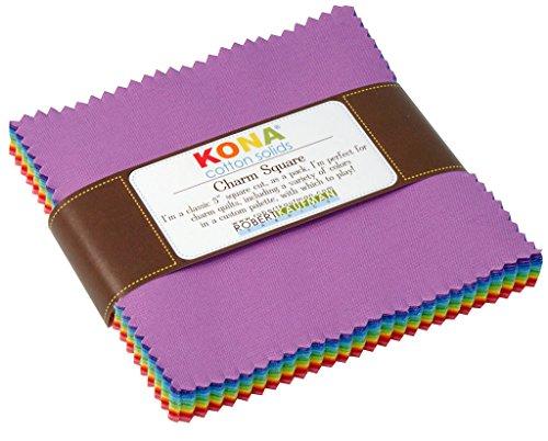 - Kona Cotton Solids New Bright Charm Square 41 5-inch Squares Charm Pack Robert Kaufman CHS-137-41