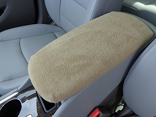 Car Console Covers Plus Made in USA Fleece Center Armrest Console Cover Designed to fit Lexus ES300 Models 2003-2009 Tan