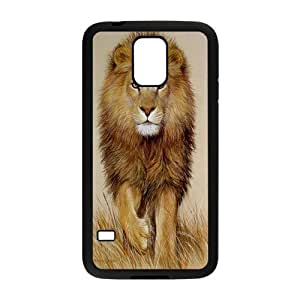 Cool Lion Design Hard Back Protection Cover Case For Samsung Galaxy S5 TPU