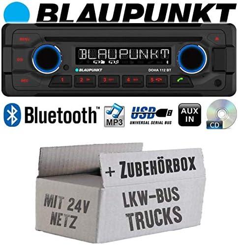 Lkw Bus Truck 24v 24 Volt Autoradio Radio Blaupunkt Doha Bluetooth Cd Mp3 Usb Einbauzubehör Einbauset Navigation
