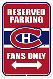 Montreal Canadiens 10x15 Parking Sign