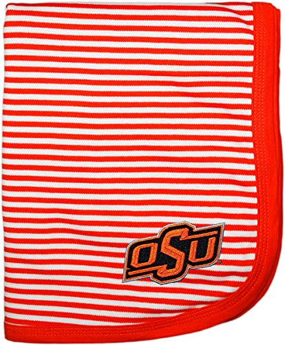 Creative Knitwear Oklahoma State University OSU Striped Baby and Toddler Blanket