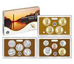"The 2015-S United States Mint Proof Set contains 14 coins in stunning proof condition displayed in three protective lenses. Each of these 2015-dated coins bears the ""S"" mint mark of the United States Mint at San Francisco.  The coins included..."