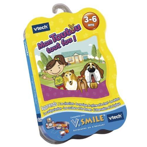 VTech Cartouche de jeu V.Smile Mon Toutou Tout Fou - 90145