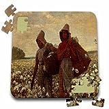 Florene - Winslow Homer Paintings - Print of Vintage Winslow Homer Painting The Cotton Pickers - 10x10 Inch Puzzle (pzl_196340_2)