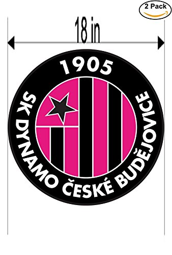 fan products of SK Dynamo Ceske Budejovice Czech Republic Soccer Football Club FC 2 Stickers Car Bumper Window Sticker Decal Huge 18 inches