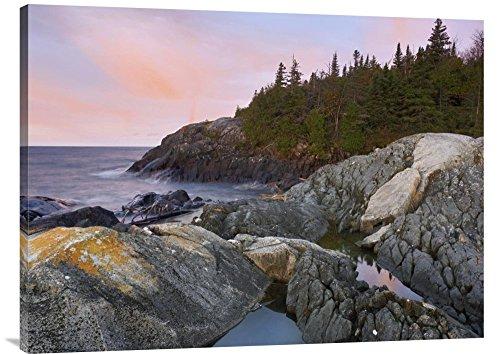 Global Gallery Gcs 397049 3040 142  Tim Fitzharris Horseshoe Bay On Lake Superior Pukaskwa National Park Thunder Bay Canada  Gallery Wrap Giclee On Canvas Print Wall Art