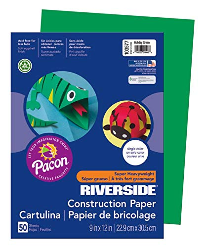 Riverside® Groundwood Construction Paper, 100% Recycled, 9