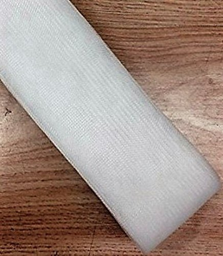 White Polyester Horsehair Braid, Price Per Roll/22 Yards (3inch) sewing888