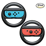 Cheap niceEshop(TM) Nintendo Switch Steering Wheel Controller, Joy-Con Wheel for Nintendo Switch(2 Pack), Black