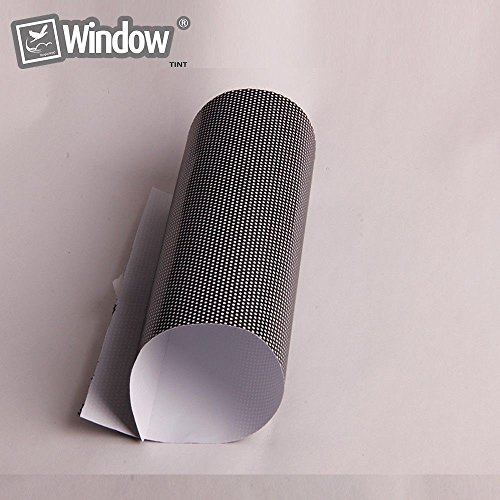 HOHO 1.37mx10m Black One Way Perspective Window Film Mesh Film Perforated Posting Film by HOHO