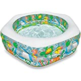 "Intex Swim Center Ocean Reef Inflatable Pool, 75"" X 70"" X 24"", for Ages 6+"