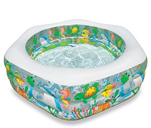 Intex Swim Center Ocean Reef Inflatable Pool, 75'' X 70'' X 24'', for Ages 6+ by INTEX