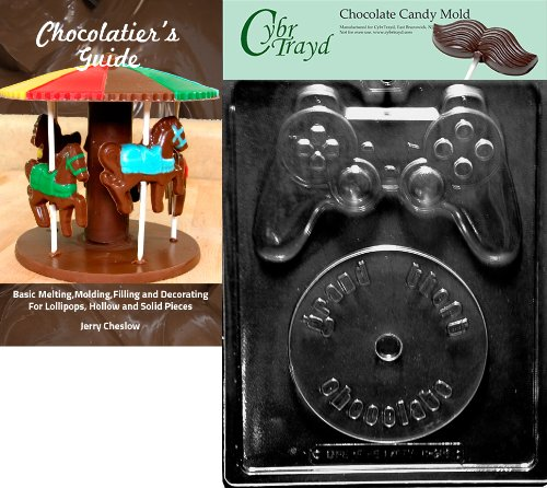 Cybrtrayd Video Game Kit Miscellaneous Chocolate Candy Mold with Chocolatier's Guide Instructions Book Manual