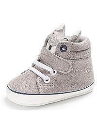 Iuhan Cotton Baby Girl Boys Fox Hight Cut Shoes Anti-Slip Infant Soft Sole Sneaker