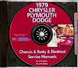 1979 DODGE REPAIR SHOP & SERVICE MANUAL & BODY MANUAL CD INCLUDES: Magnum, St Regis, Diplomat & Aspen. 79