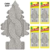 Automotive : LITTLE TREES Car Air Freshener | Hanging Tree Provides Long Lasting Scent for Auto or Home | Cable Knit, 6-packs (4 count)