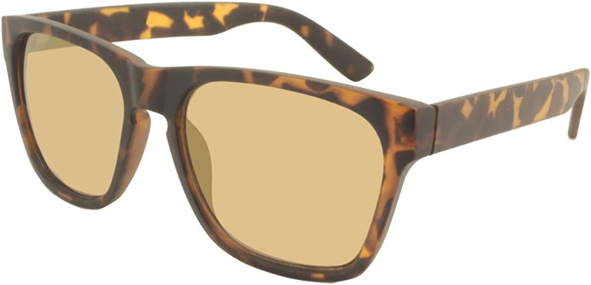 Modern horned rim Sunglasses Gold Metal Temples Mens Womens Tortoise frame brown