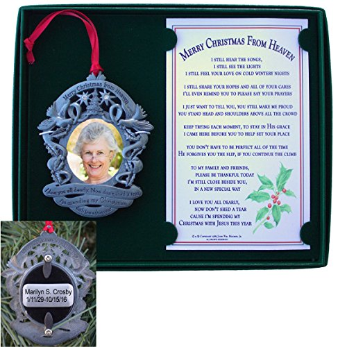 Merry Christmas From Heaven Engraved Photo Holder -