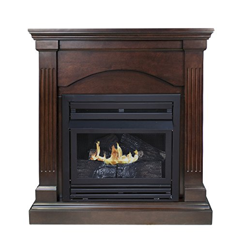 vent free gas fireplace corner - 5