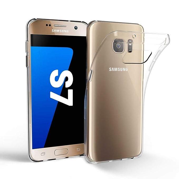 EasyAcc - Carcasa para Samsung Galaxy S7, Ultrafina, Transparente y Suave, de TPU Suave, Transparente, Compatible con Samsung Galaxy S7