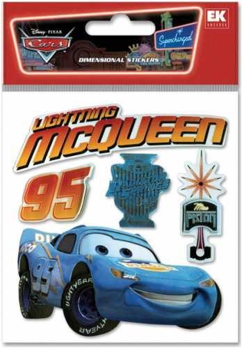 Cars Dimensional Stickers-Lightning (Lightning Mcqueen Fabric)
