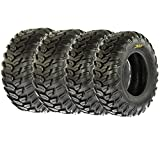 SunF Radial A/T Sport ATV UTV Tires 25x8R-12 & 25x10R-12 6 PR A043 (Full set of 4, Front & Rear)