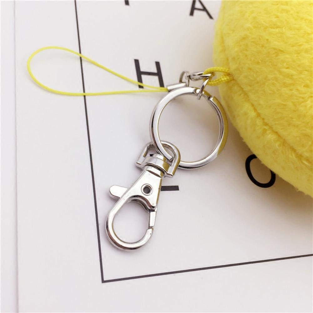 quan di 20 pieces Detachable Swivel Lobster Clasps Keychains Keyrings-Silver