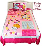 Playtime Interactive Twin Bed Sheet Set - Pink