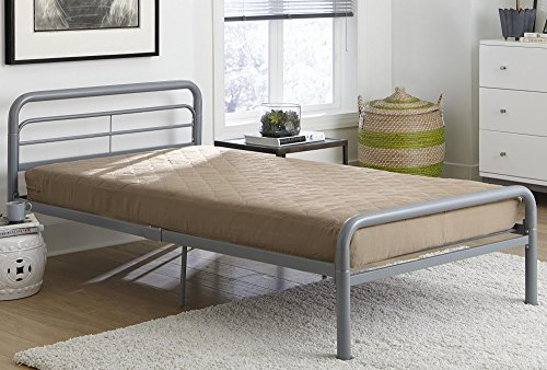 DHP 6-inch Quilted Mattress, Perfect for Bunk Beds, Daybeds, Roll-Out Beds and Twin Beds, Twin Size - Tan