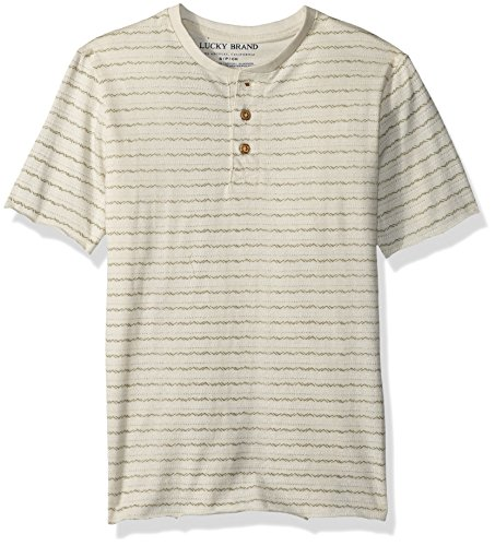 Lucky Brand Little Boys Short Sleeve Henley  Rainy Day Heather  6