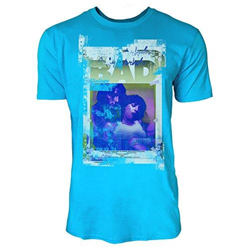 SINUS ART® Warhol Is Bad Herren T-Shirts in Karibik blau Cooles Fun Shirt mit tollen Aufdruck