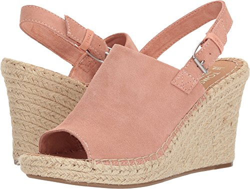 Suede Wedge Heel - TOMS Women's The Monica Rope Wrapped Wedge Bloom Suede 9.5