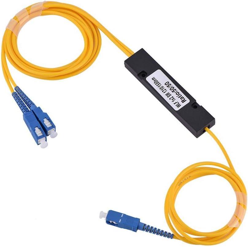 Singlemode SC Optical Fiber Splitter 1 to 2 Cable with SC-SC Connector 1 in 2 Out SC Optical Fiber Splitter