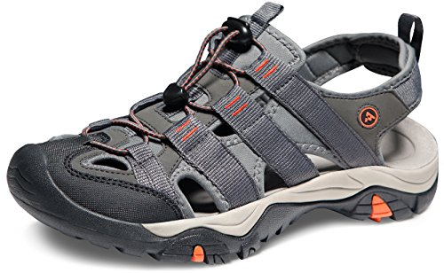 ATIKA AT-M107-GRO_Men 12 D(M) Men's Sports Sandals Trail Outdoor Water Shoes 3Layer Toecap M107