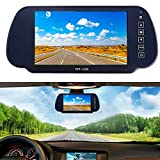 Ehotchpotch Car Monitor 7 inch Rear View Mirror & Rearview Backup Camera Parking Security Kit, 2.4G Wireless Car Reverse Rear View Backup Camera, Waterproof, Night Vision