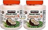 Kirkland Signature Cold Pressed Unrefined Organic Virgin Coconut Oil (2 Bottles – 84 OZ Each) For Sale