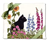 #4: Alice's Cottage Black Cat Flour Sack Kitchen Towels (set of 2)
