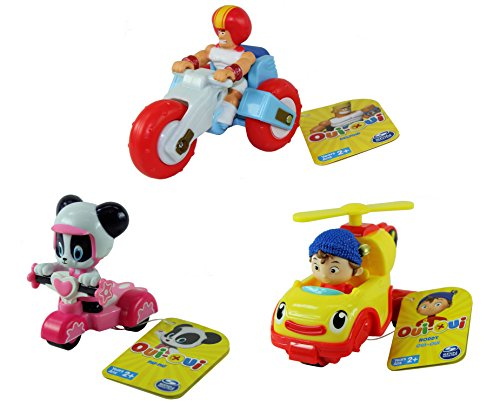 DreamWorks Noddy Toyland Detective - Set of All 3 Vehicles - Noddy Revs Helicopter Car, Deltoid Trike and Pat-Pat (Noddy Car)