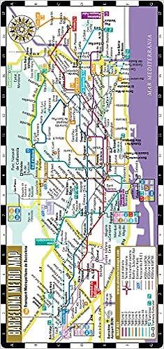 Subway Map Barcelona.Streetwise Barcelona Metro Map Laminated Metro Map Of Barcelona