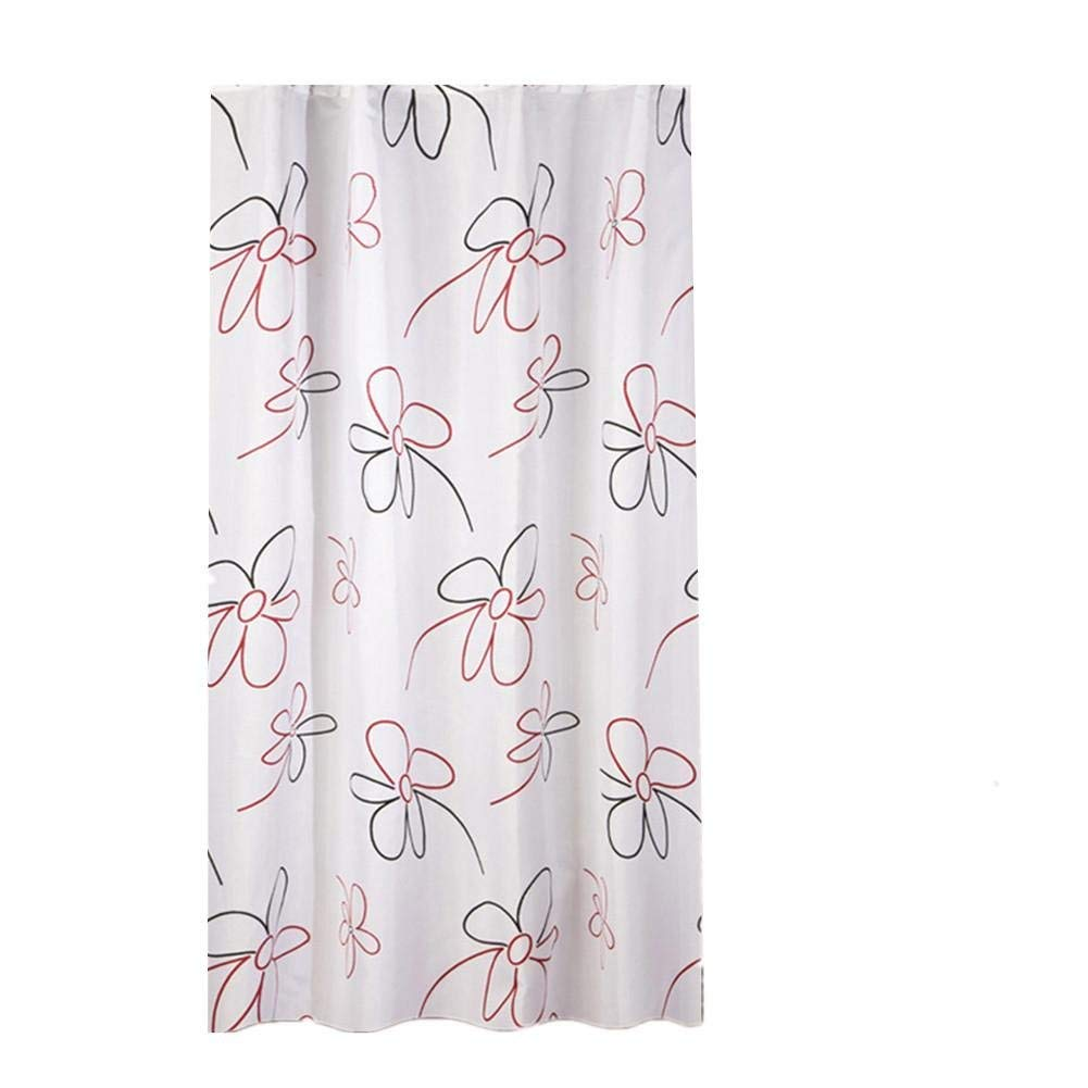 JaHGDU Shower Curtain 1pcs Printing Shower Curtain Waterproof Polyester Fabric Durable Partition Toilet Shade Super Quality Opaque Bathroom Amenities (Size : 150180cm) by JaHGDU (Image #1)