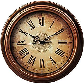 amazon com sonyo silent non ticking round wall clocks 12 inches