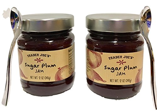 Strawberry Dip Recipe - Trader Joes Sugar Plum Jam - 12 oz jars - Two Jar Bundle - Holiday Christmas Food Party Supply Gift