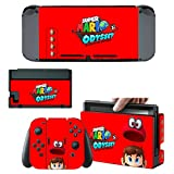 Protective Skins Stickers Cover for Nintendo Switch Console and Gray(Red, Blue)Joy con - Vinyl Decals Protector Set for Switch - Nintendo Switch Games Sticker