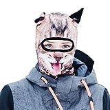 Beardo Balaclava Ski Mask, Happy Cat