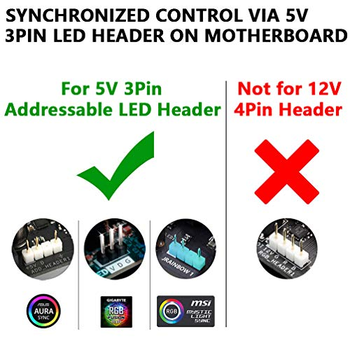 Computer Magnetic Addressable Digital RGB LED Strip, Compatible with